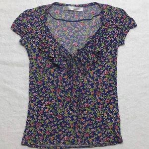 Zara Basic Floral Top